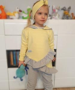 Dres cytrynowy dla dziewczynki