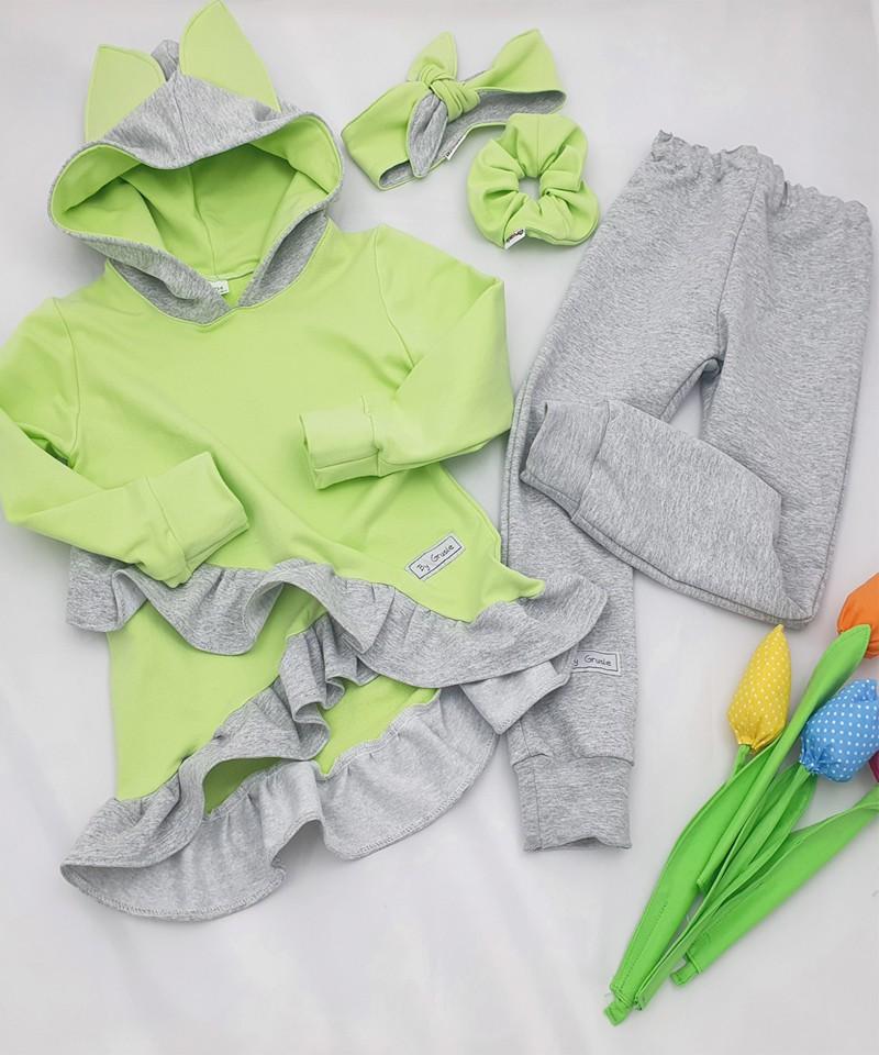 Kamizelka, spodnie, koszula- szafirowe