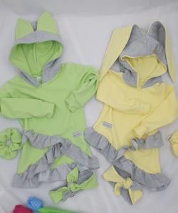 Bluzy w pastelowych kolorach dla dziewczynki