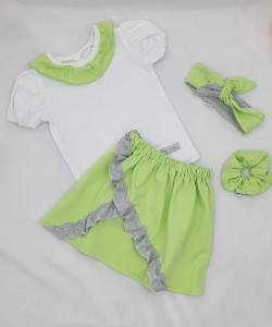 Spódniczka i bluzeczka w pastelowych kolorach