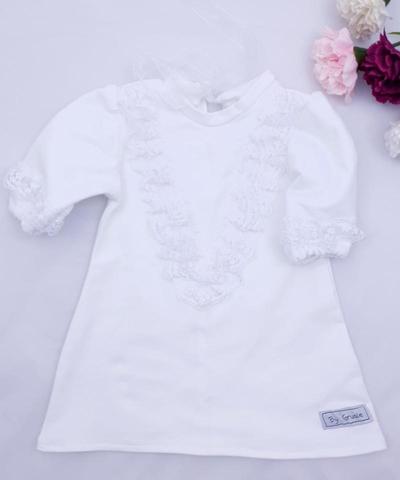 Biała sukienka z koronka