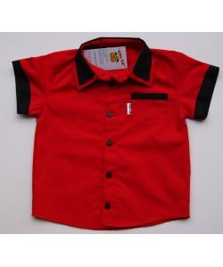 Koszula czerwono-czarna z...
