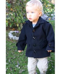Czarny płaszczyk dla dziecka