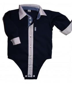 Granatowa bodo-koszulka dla chłopca