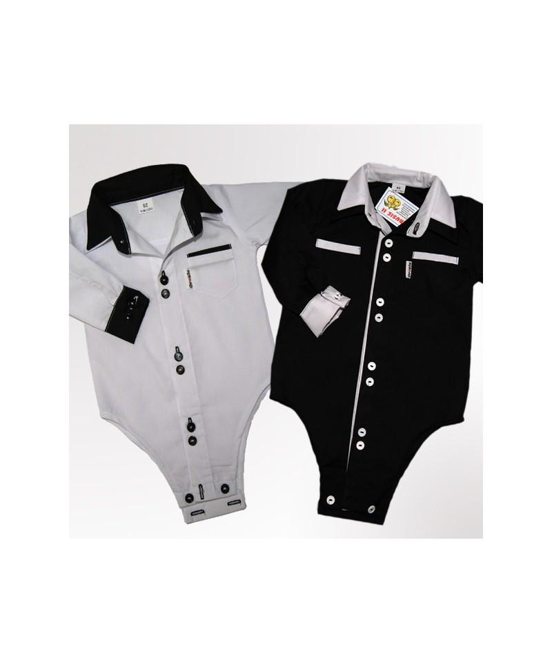 bodo-koszulka biała i czarna dla chłopca