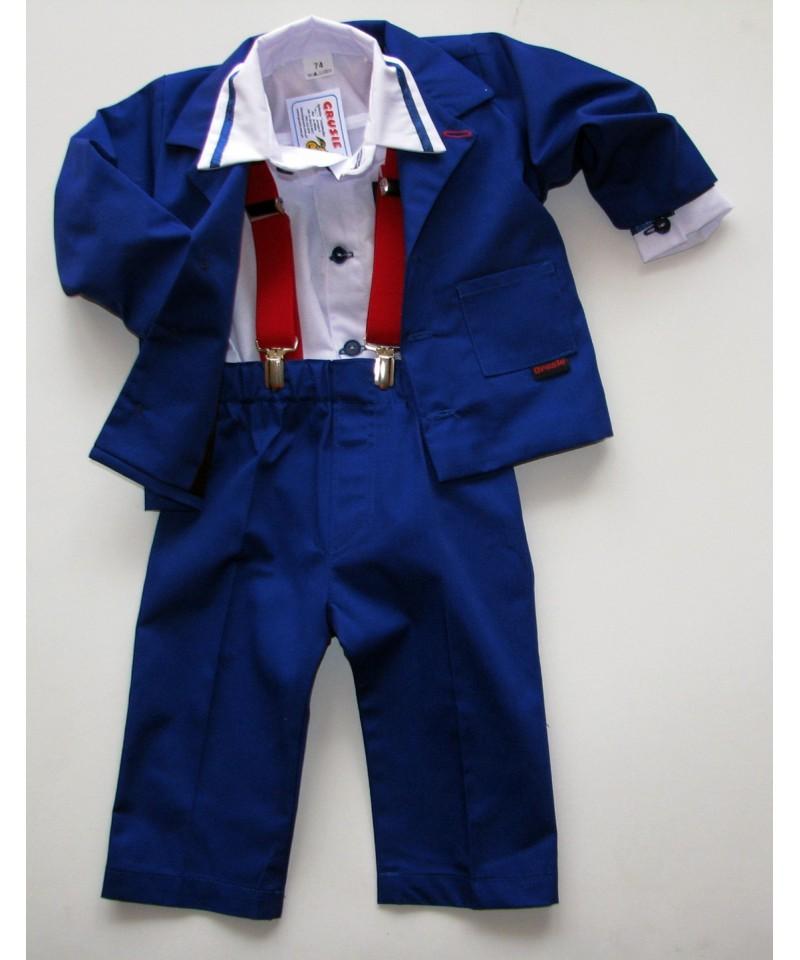Garnitur niebieski-sztruks- 92