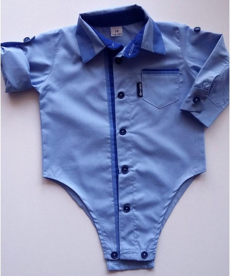 Koszulo-body niebieskie dla chłopca