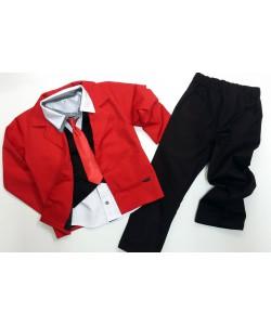Czerwono-czarny garnitur...