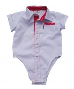 Białe koszulo-body dla dziecka