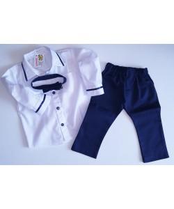 Koszula, spodnie i muszka