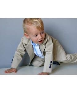 marynarka dla dziecka beżowa