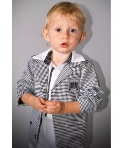 ubranko dla dziecka  z marynarką w kratę