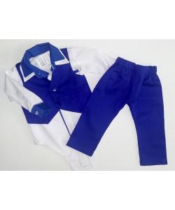 Kamizelka ze spodniami -szafirowa