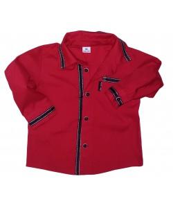 Koszula czerwona z tasiemkami