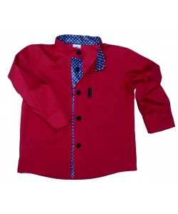 koszula czewona ze stójką dla dziecka