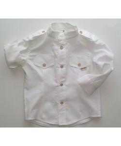 Koszula biała sportowa ze...