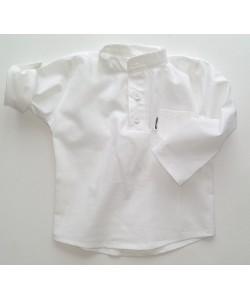 Koszula biała polo ze stójką