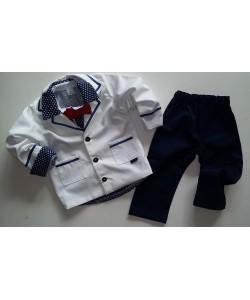 garniturek dla chłopczyka na roczek lub do chrztu