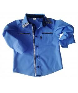 Koszula ciemno niebieska dla chłopca i jego taty