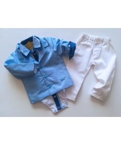 Ubranko biało niebieskie dla dziecka
