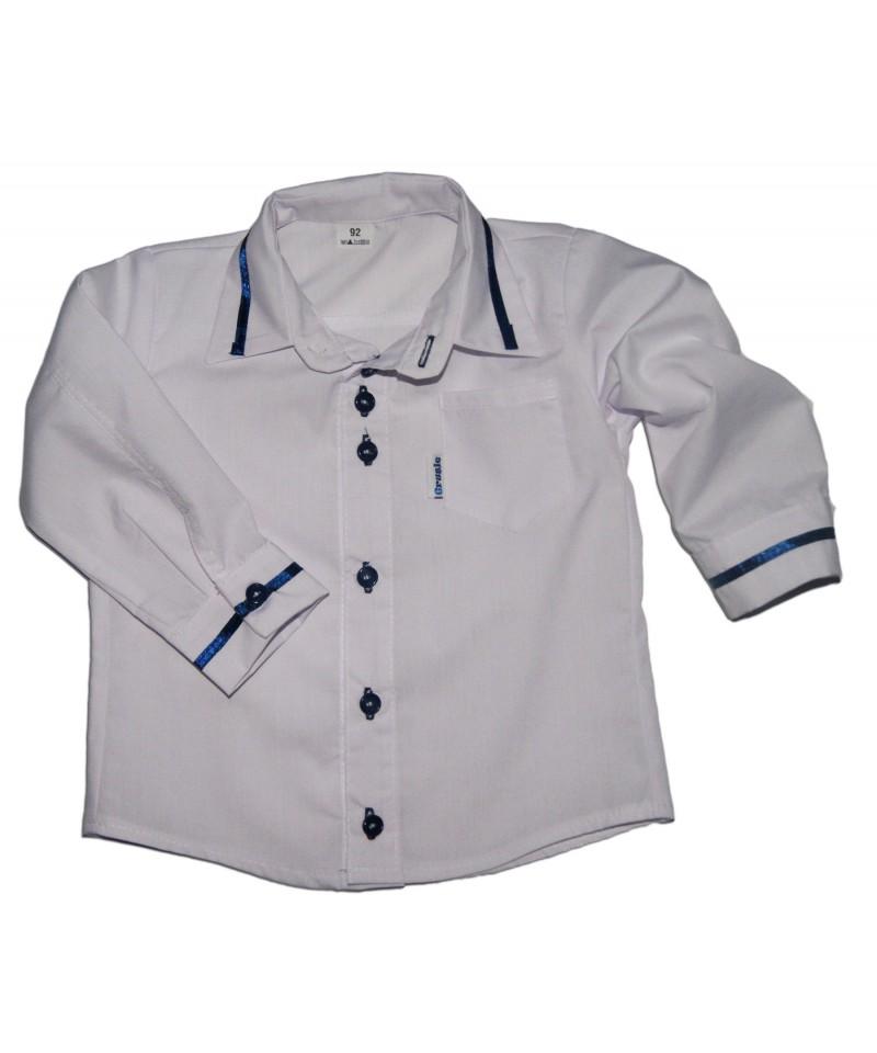 Koszula biała wizytowa dla chłopca