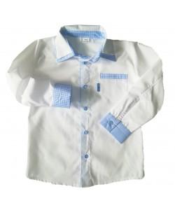 Koszula z krateczką błękitną