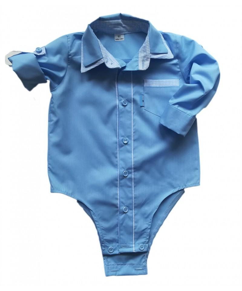 Koszulo-body dla chłopca niebieskie