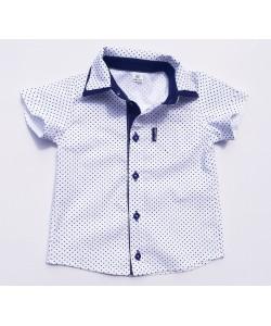 Koszula biała z granatowymi...