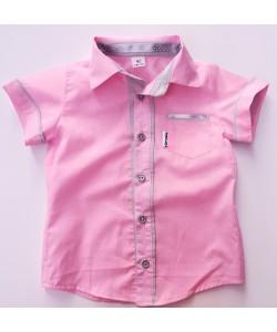 Koszula różowa z szarym