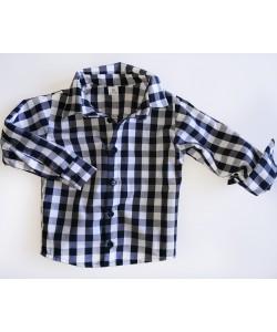 Koszula w biało-czerwoną kratkę