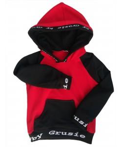 Bluza czerwono-czarna z...
