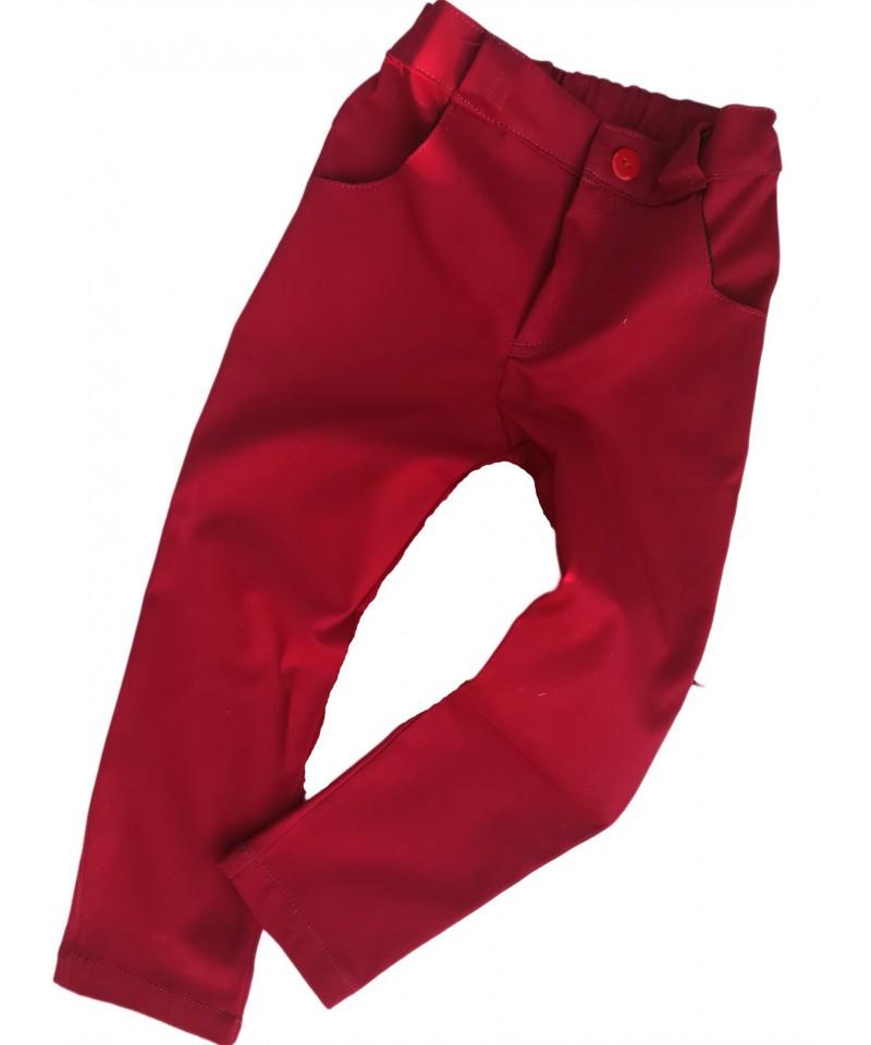 bordowe spodnie wizytowe dla dziecka