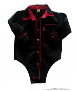Bodo-koszulka czarna z czerwonym dla chłopca