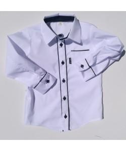 Koszula biała z czarnymi...