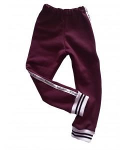 Spodnie dresowe bordowe z...