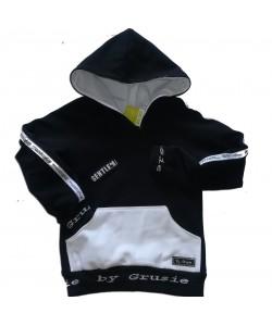 Bluza czarno biała z napisami