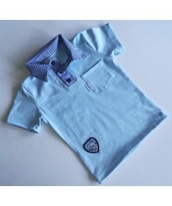 Koszulka niebieska z...