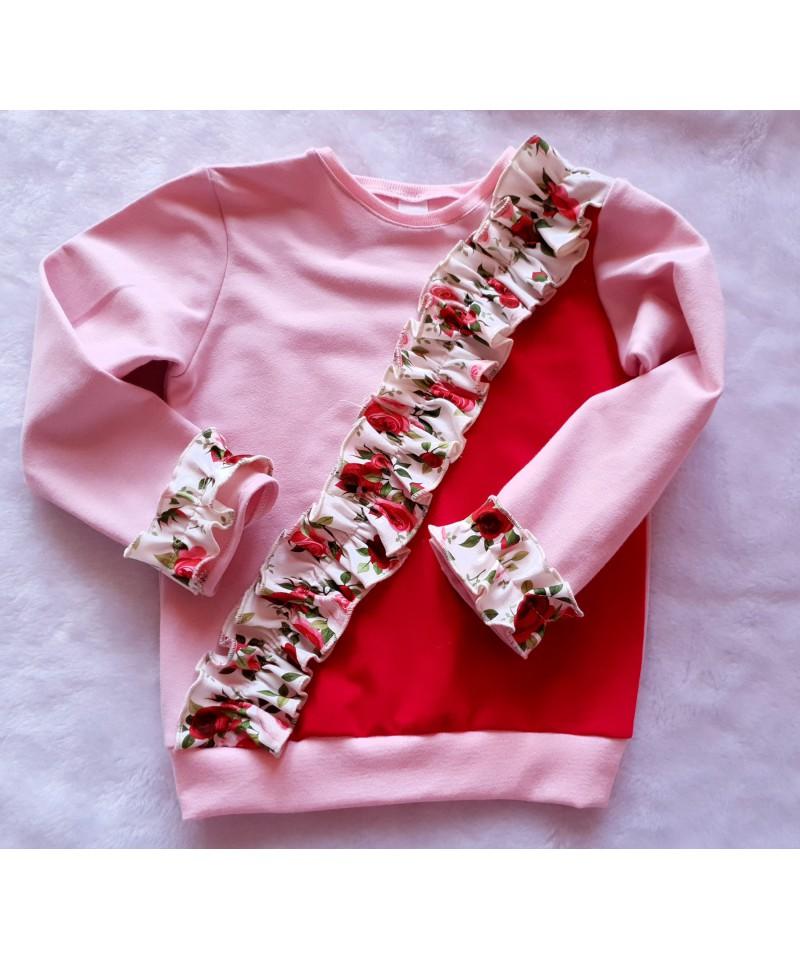 Bluzeczka dla dziewczynki różowo- fuksjowa