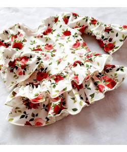 Tunika z różami i falbankami