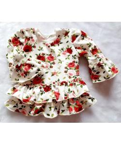 Tunika dla dziewczynki z różami