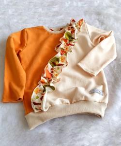 Bluza z falbanką w liski