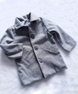 płaszcz dla dziecka w jodełkę