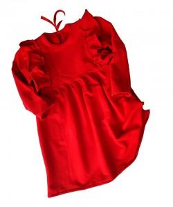 Czerwono-czarny garnitur dla chłopca