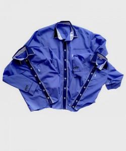 Koszula ciemno-niebieska z...