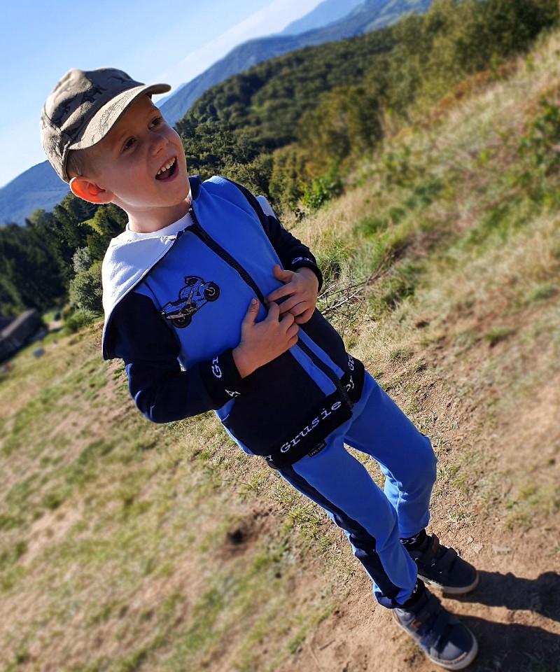 dres dla chłopca, granatowo-niebieski