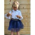 Marynarka dla dziecka w krateczkę z emblematem
