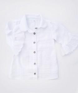Biała bluzeczka do szkoły z haftem