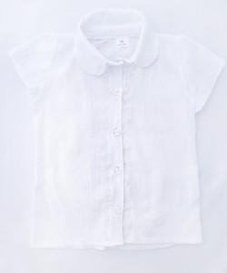 Biała bluzeczka do przedszkola z koronką