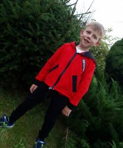 Bluza czerwono-czarna dla chłopca