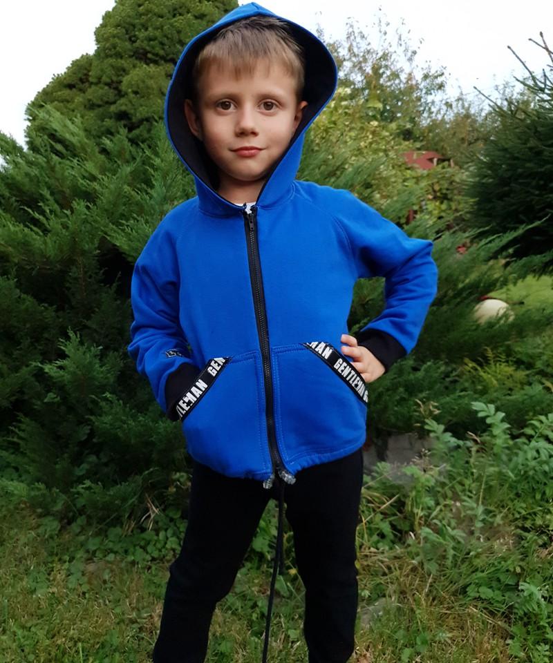 Niebiesko-czarny dres dla dziecka